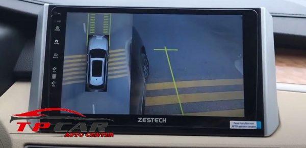 lợi ích khi lắp màn hình zestech tích hợp camera 360