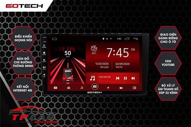 màn hình android ô tô gotech