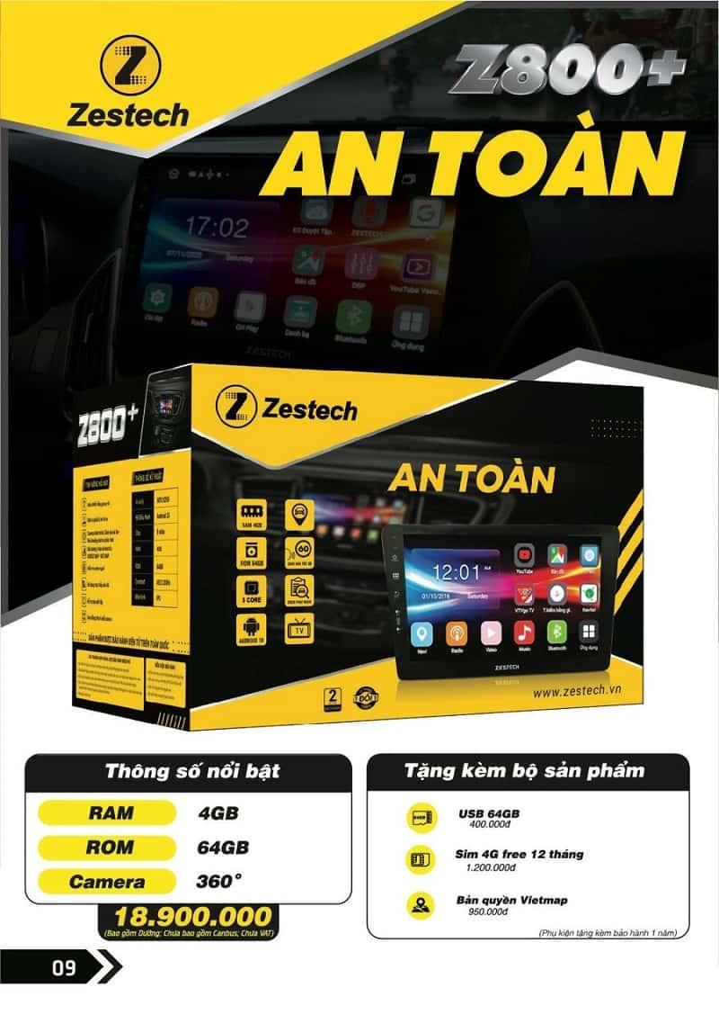 màn hình zestech z800 pro+