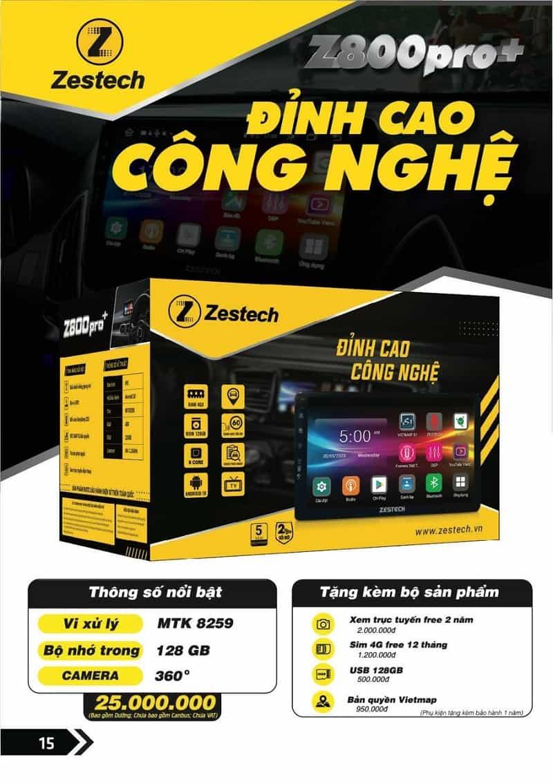 màn hình zestech z800+