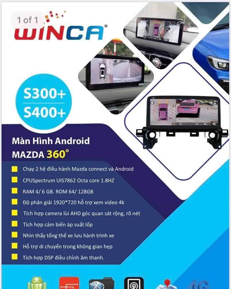 Winca S300+ là một phiên bản màn liền Camera 360 được ưa chuộng trên các dòng Mazda đời cao