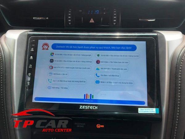 tính năng điều khiển giọng nói với màn hình ô tô zestech